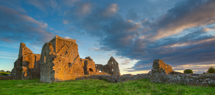 Hore Abbey at Sunset